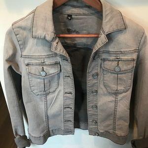 Grey denim jacket worn once!
